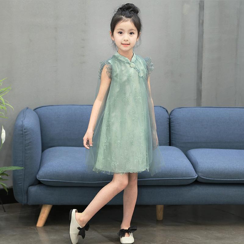 77c5c0e3c Girls Dress 2018 Summer Wear New Style Children Western Style Princess Dress  Female Baby Vintage MIMZF