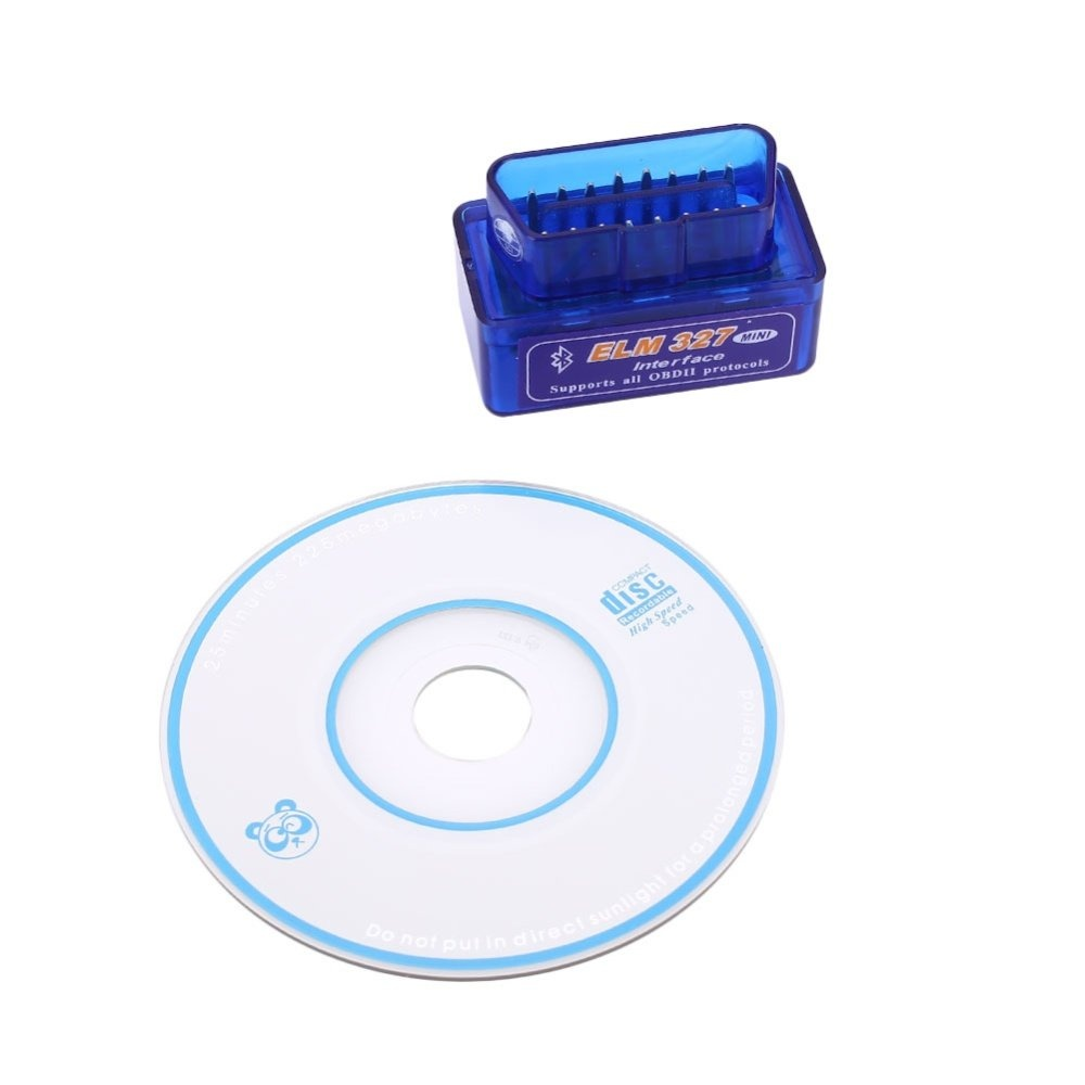 ISM Free Shipping Funny Game Bluetooth ELM327 OBD2 OBD II Smart Car Vehicle  Engine Diagnostic Scanner With CD - intl