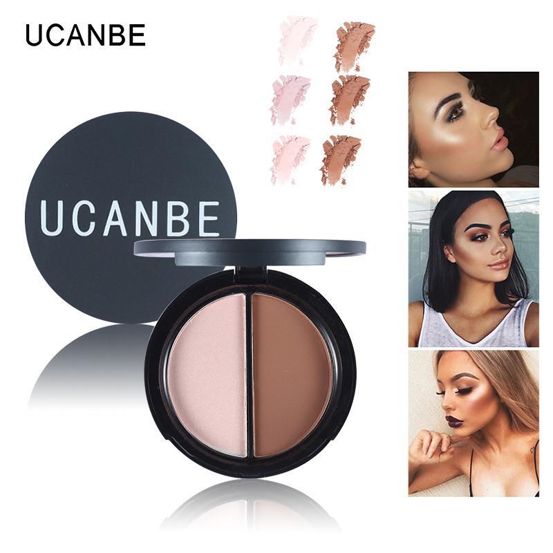 UCANBE Makeup Face Highlighter & Bronzer Palette Grooming Press Powder Contour 3d Face 2 Color Contour Palette Make Up Philippines
