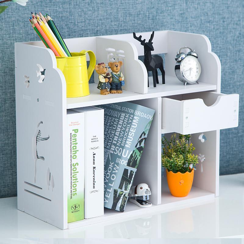 Desktop Students Children Simplicity Bookshelf in My Bedroom Modern Minimalist Cosmetics Storage Shelf Office Table Bookcase