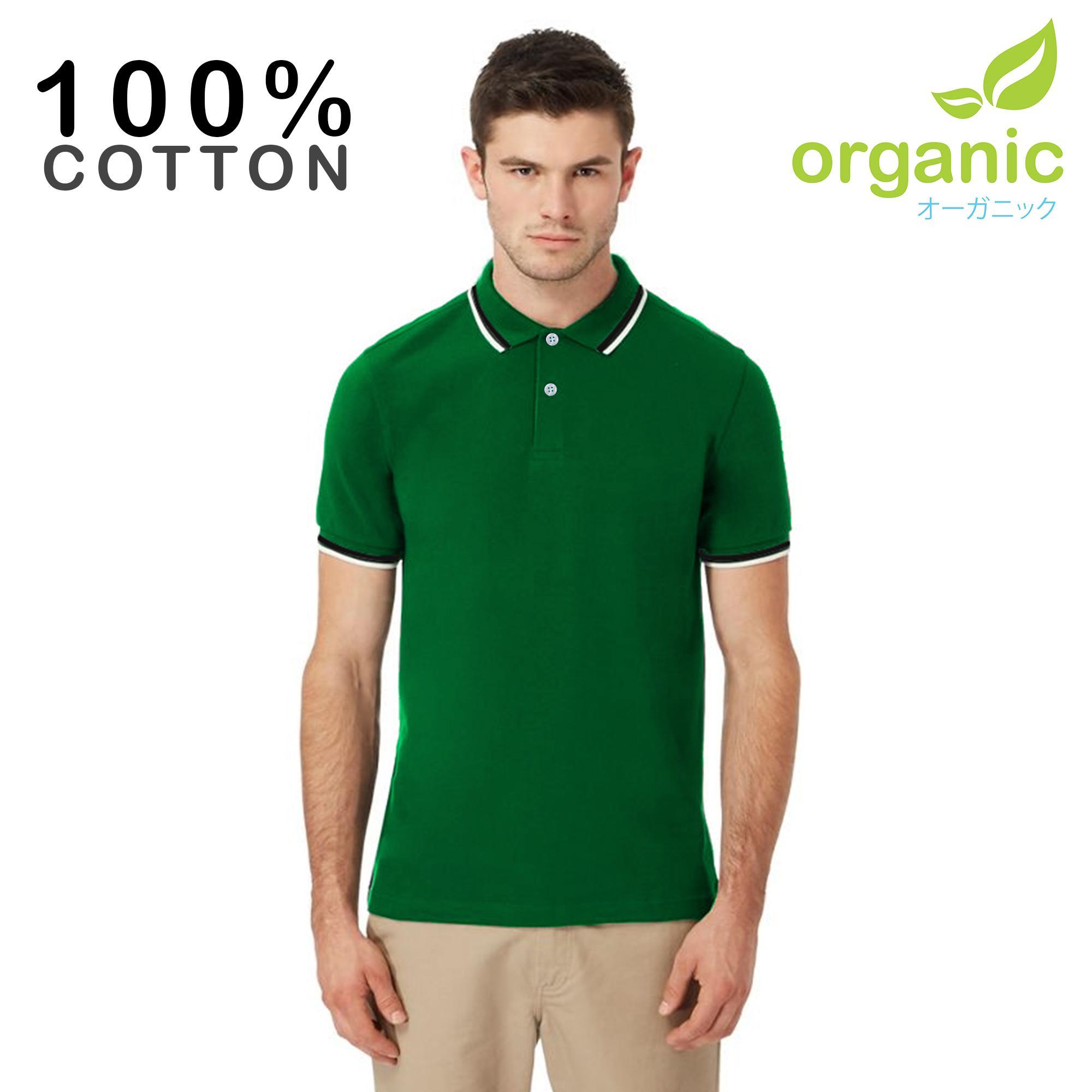 Organic Mens Tipped Pique Polo Shirt Tees t shirt tshirt shirts tshirts tee  tops top for