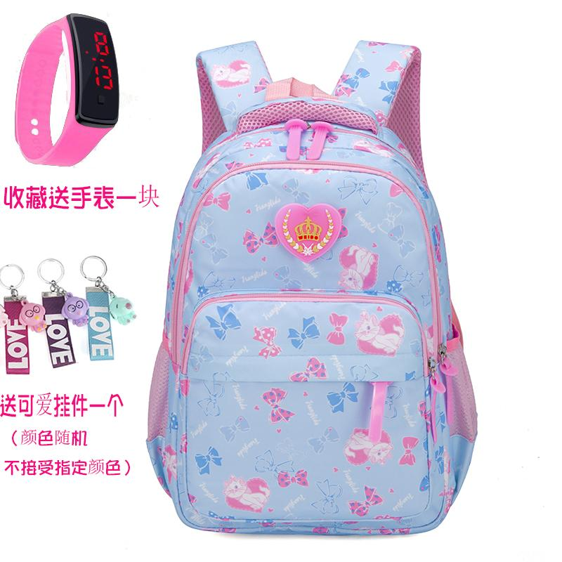 Cute Girls School Bag Young Students 1-3-4-6 Grade 6-12 Children Leisure Backpack Big Boy Shoulders