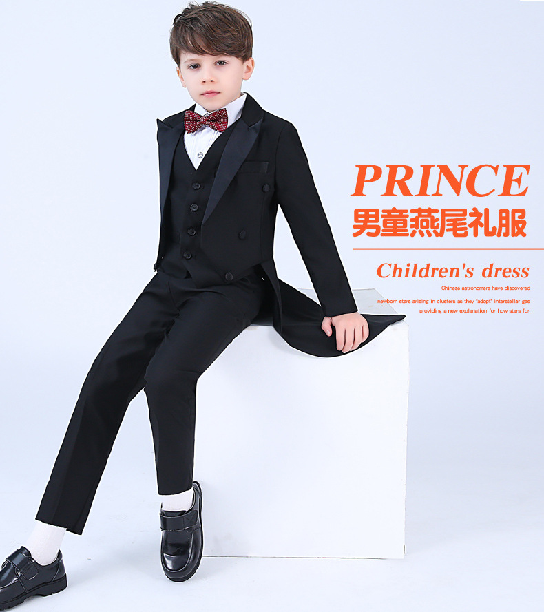 94204dfcde7 Specifications of (Jacket+Pants+Tie +Shirt) Boys Suits for Weddings Kids  Prom Suits Wedding Suits for Boys Tuxedo Children Clothing Set Boy Formal  Costume