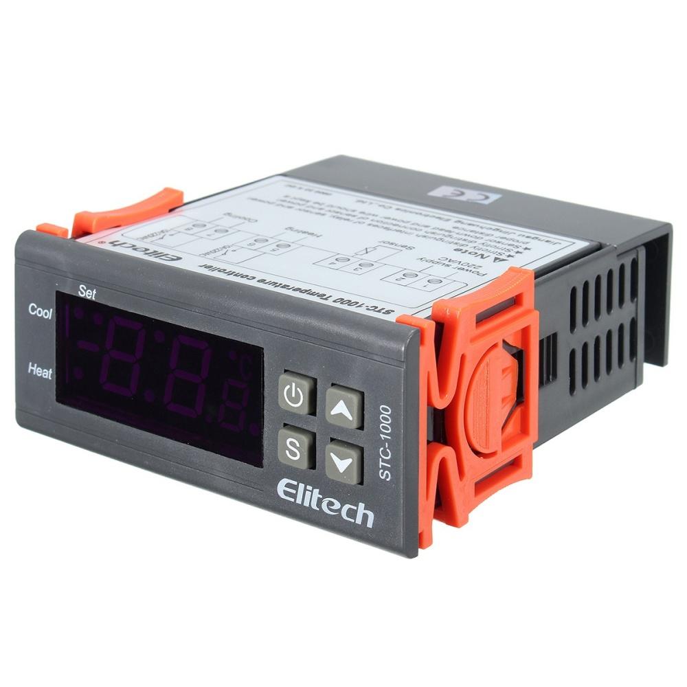 Ntc Digital Stc 1000 All Purpose 220v Temperature Controller Addition Wiring Diagram Also 1 X Mini Sensor Probe With 2m Cable English User Manual