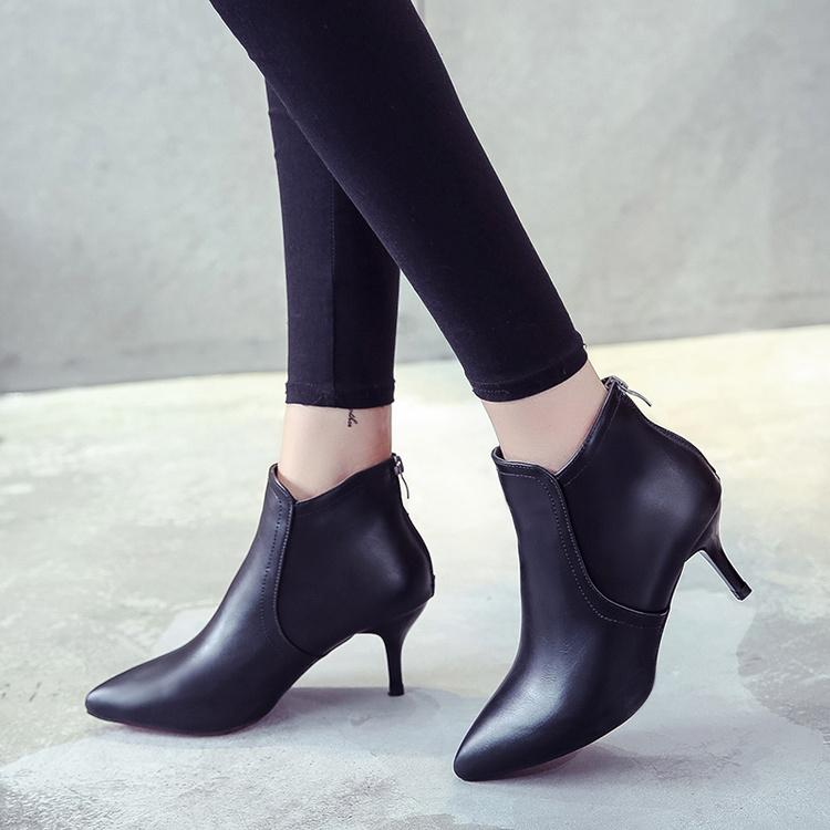 4132e163b03eb Spring And Summer New Style England Singles Boots Pointed Heels Thin Heeled  Anti-slip Super