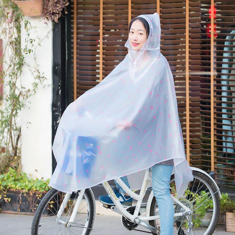 Transparan Tunggal Memiliki Mobil Listrik Berlengan Jas Hujan Sepeda Jas Hujan (Sepeda Ganda Pinggiran Topi