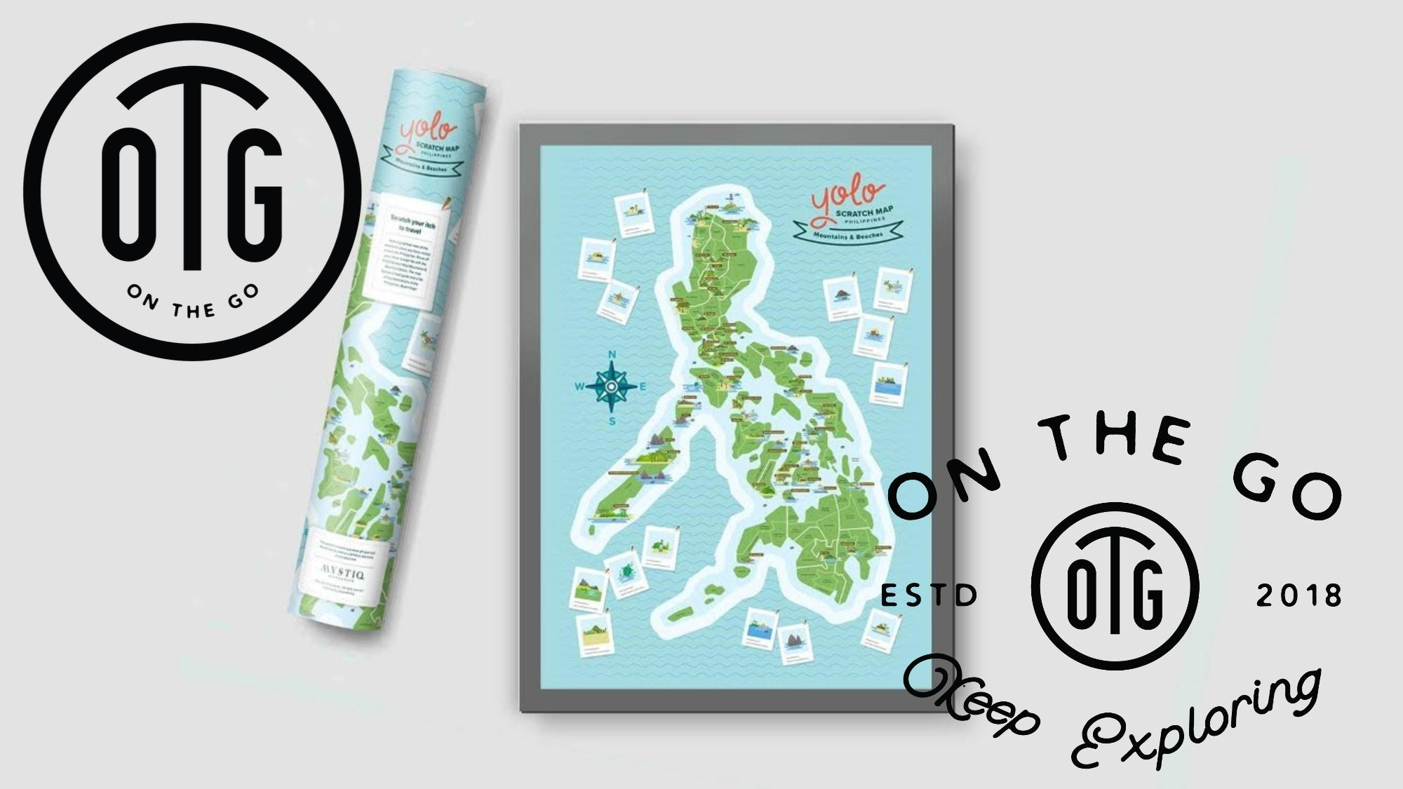 PHP 239. OTG YOLO Edition Philippine Travel Scratch MapPHP239