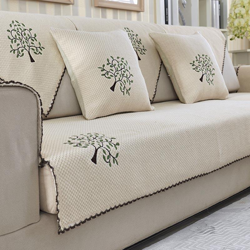 Bantal sofa musim panas ruang tamu bantal sofa Kain kain alas sofa bantal sofa Musim panas Tatakan sejuk penutup sofa modern minimalis