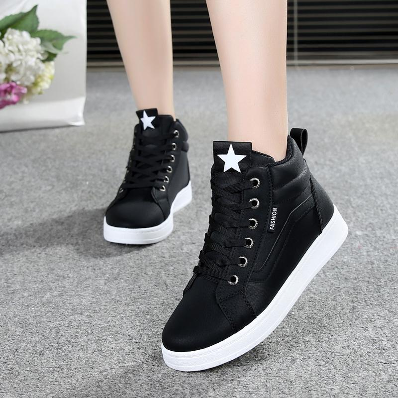 2019 New Style High School Students Athletic Shoes Female Hight-top Shoes  Lace-up 4127c521b585