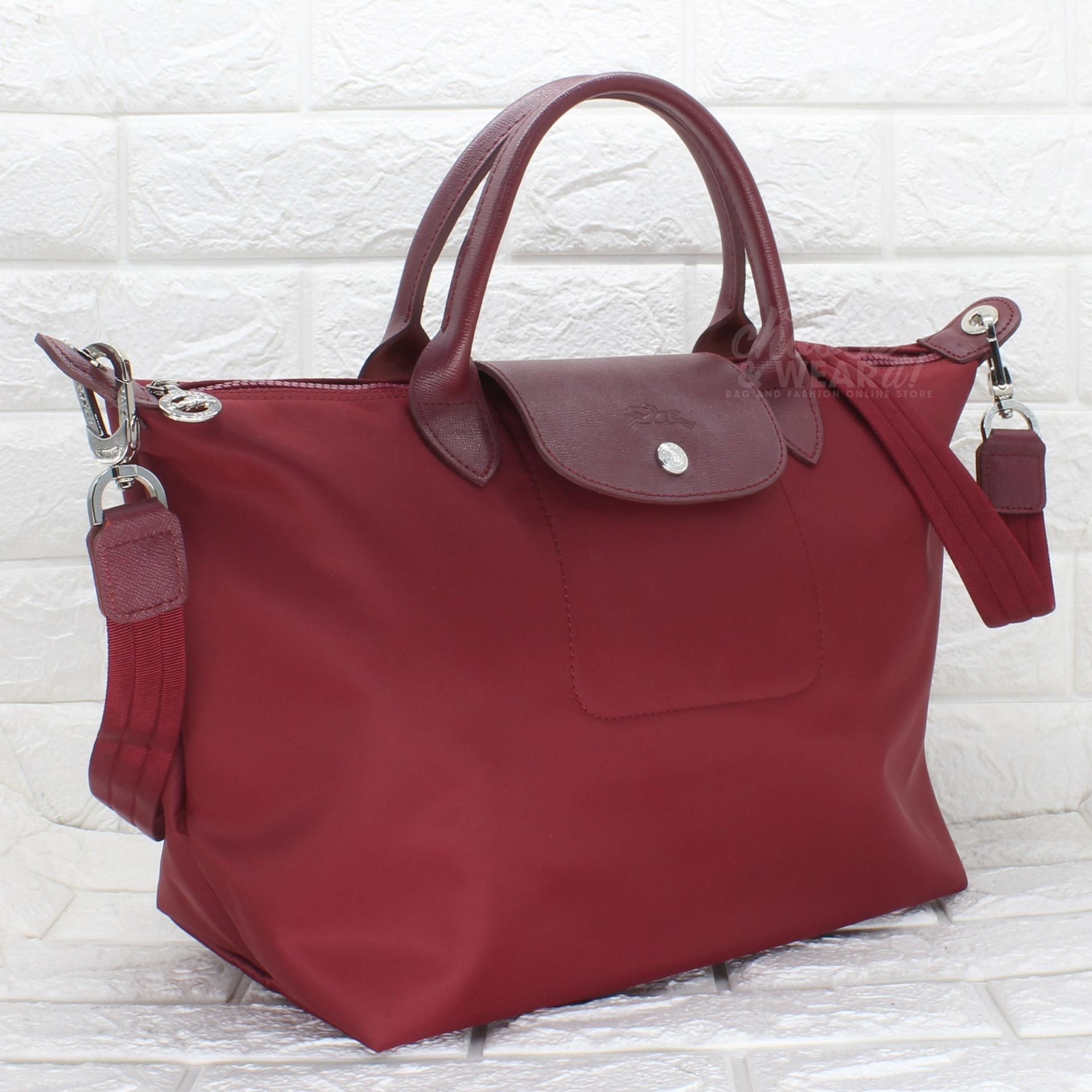 Philippines Bestsellers Longchamp Le Pliage Neo Medium Short Handle Small Black Authentic Top Tote Made In France Brique