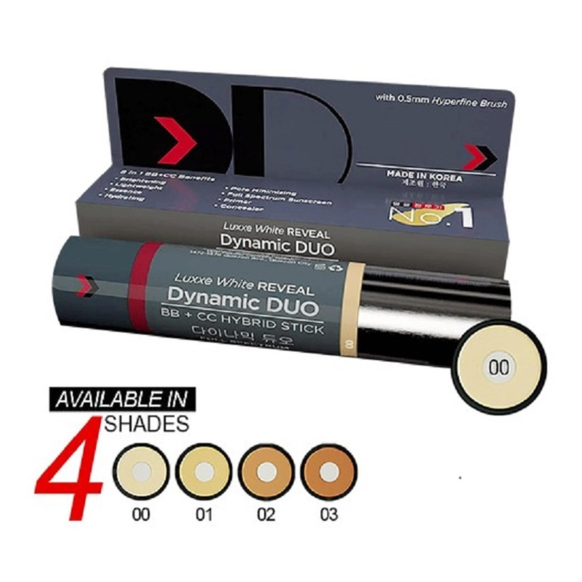 Luxxe White Reveal DYNAMIC DUO BB + CC HYBRID STICK 00 Philippines
