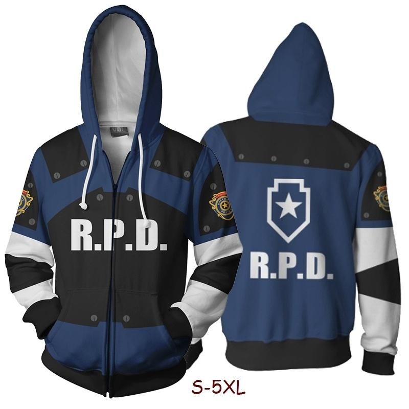 221df41286bf (COD)Newest Game Resident Evil Leon·Scott·Kennedy Sweatshirts Cosplay  Costume 3D