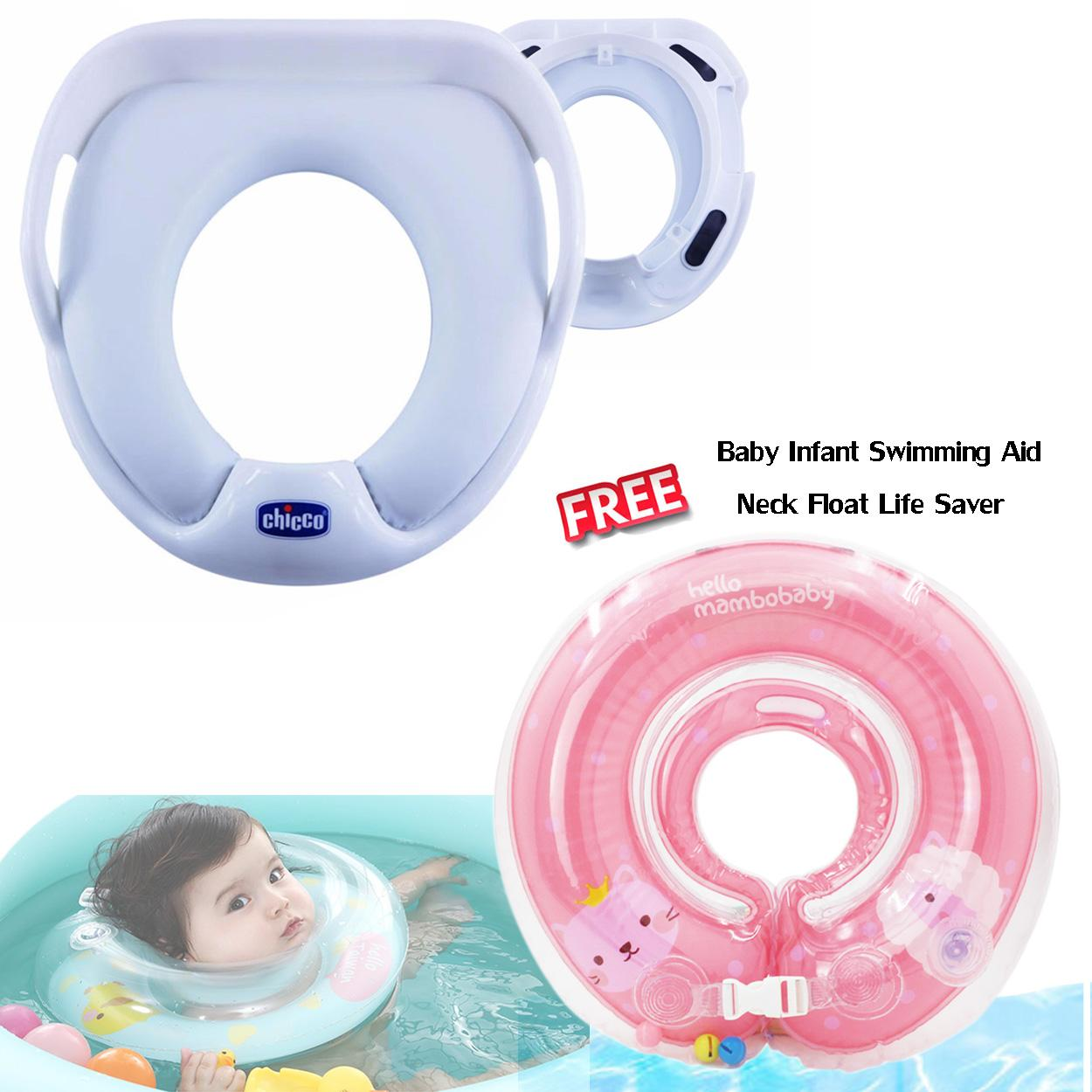 Cartoon Pattern Baby Infant Inflatable Seat Security Swimming Pool Float Swim Ring Under Arm Bath Ring with Small Bell BluePHP593. PHP 599