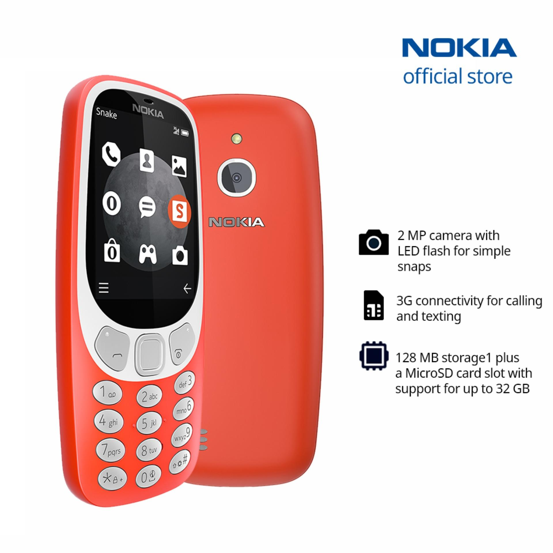 Nokia phone for sale up to 60 off lazada philippines nokia 3310 3g red reheart Choice Image