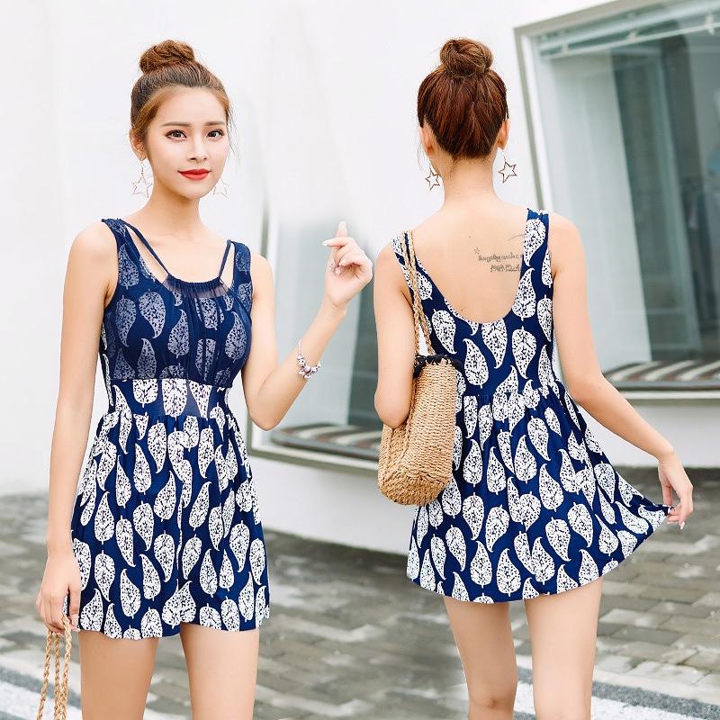 Item baru Terusan Baju renang perempuan Versi Korea modis Elegan konservatif model rok membentuk tubuh Dada