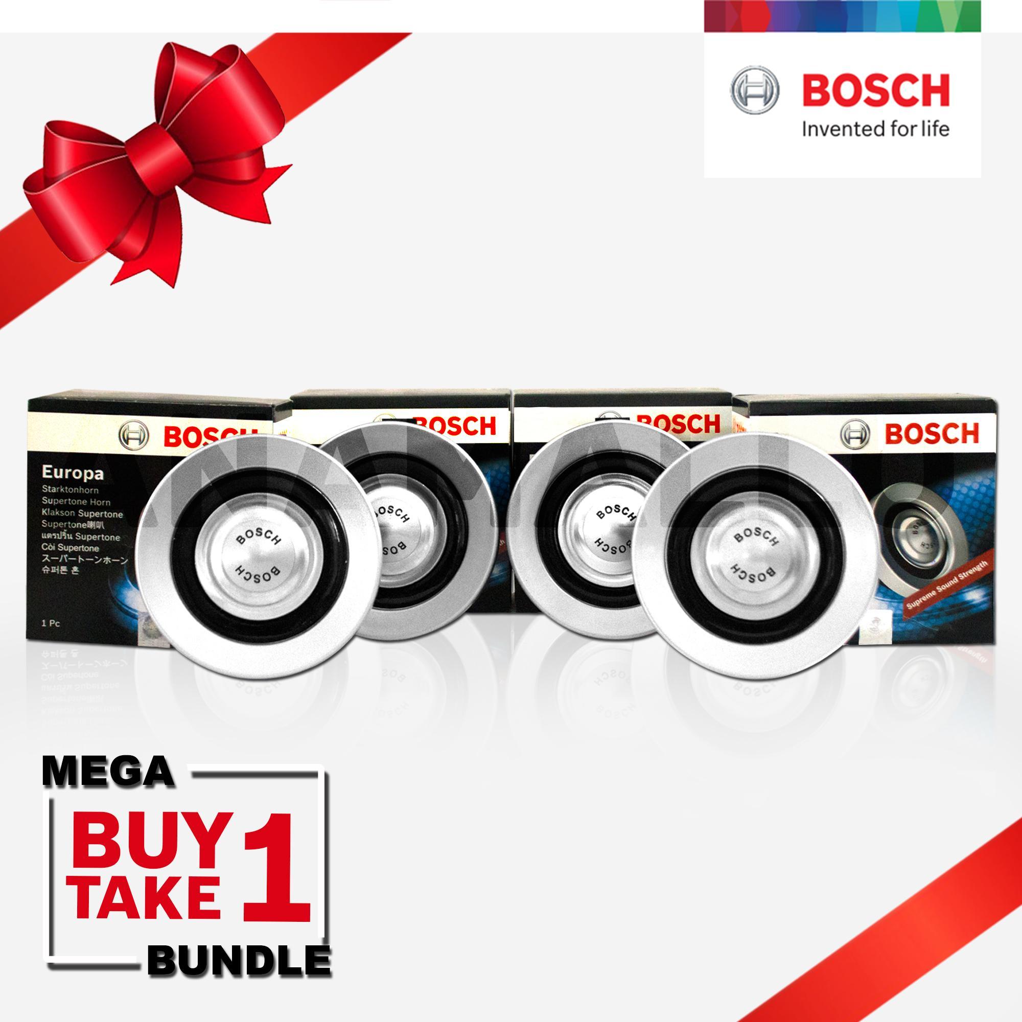 Bosch Mega Bundle Europa Supertone Horn (Silver) 12v 300/375Hz set of 4