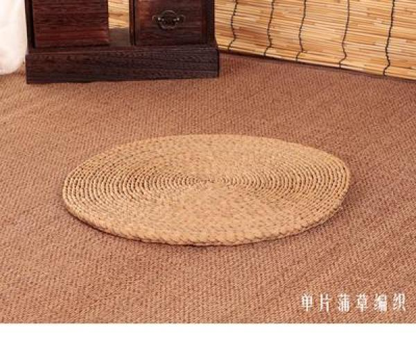Corn Bran Handmade Straw Thick Circle Futon throw pillow Meditation Buddha Meditation Bay Window Garden Hay Mat