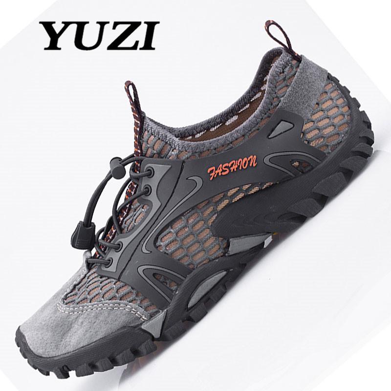 Yuzi 2018 Pria Luar Sneakers Bernapas Hiking Sepatu Ukuran Besar Pria Wanita Luar Hiking Sandal Pria