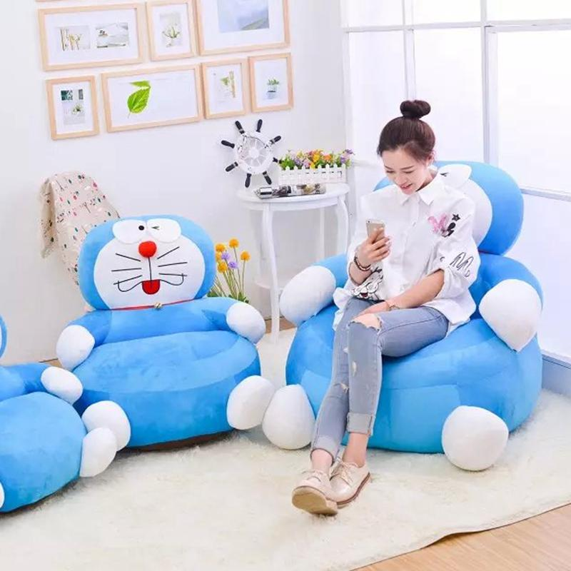 Cartoon Cute Adult Sofa Small Apartment Sofa Living Room Single Person Lazy Tatami Simplicity Sofa Fabric Bedroom