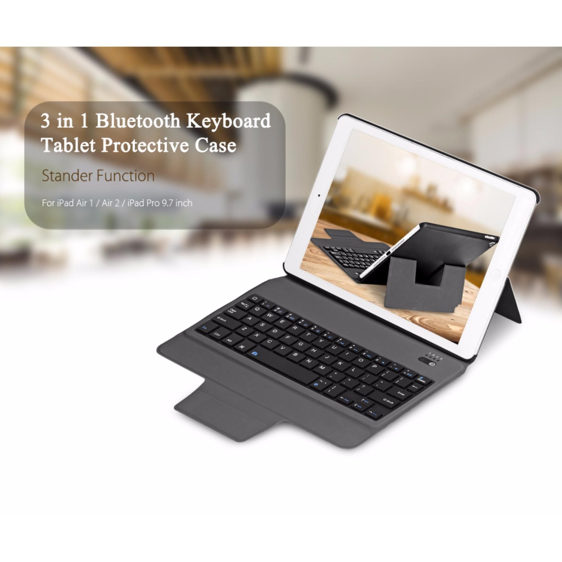 3 in 1 Universal Bluetooth Keyboard Tablet Protective Case with Stander for iPad Air 1 /