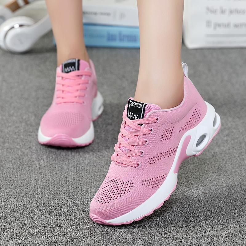 New Trendy Women Sneakers Fly Weave Breathable Women Running Shoes Soft Non-Slip Sole Womens Trainers Outdoor Sports Jogging Shoes