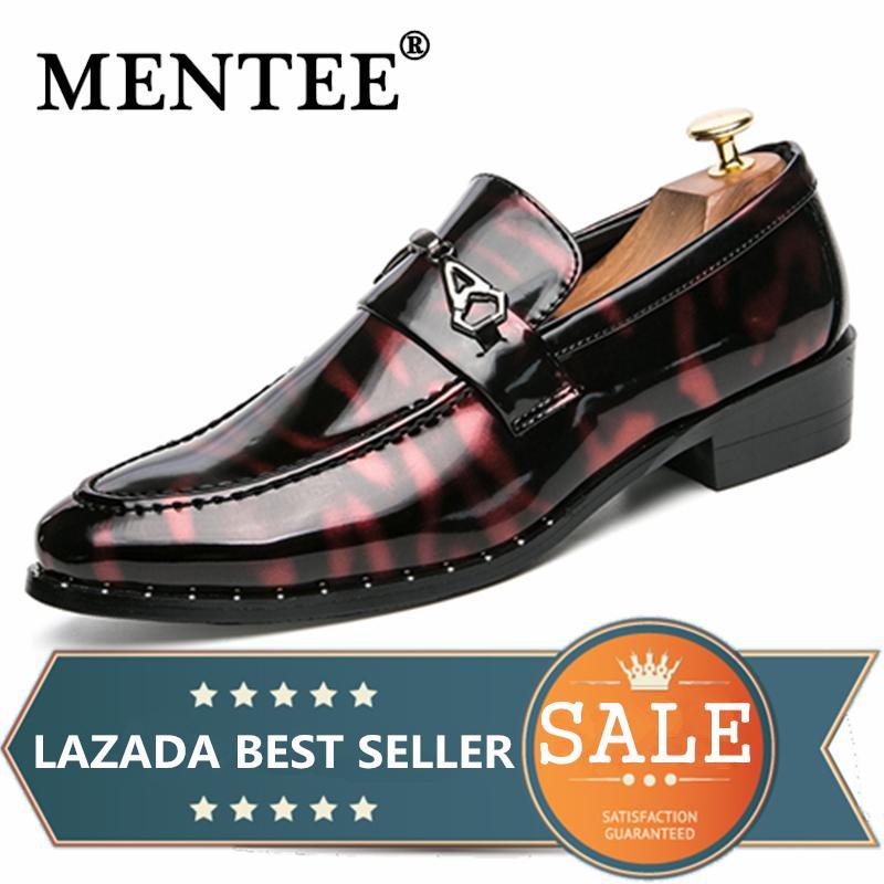 MENTEE Pria Bisnis Sepatu Formal Pria Sepatu Kulit Pesta Tuan-tuan Sepatu Rekreasi Malam