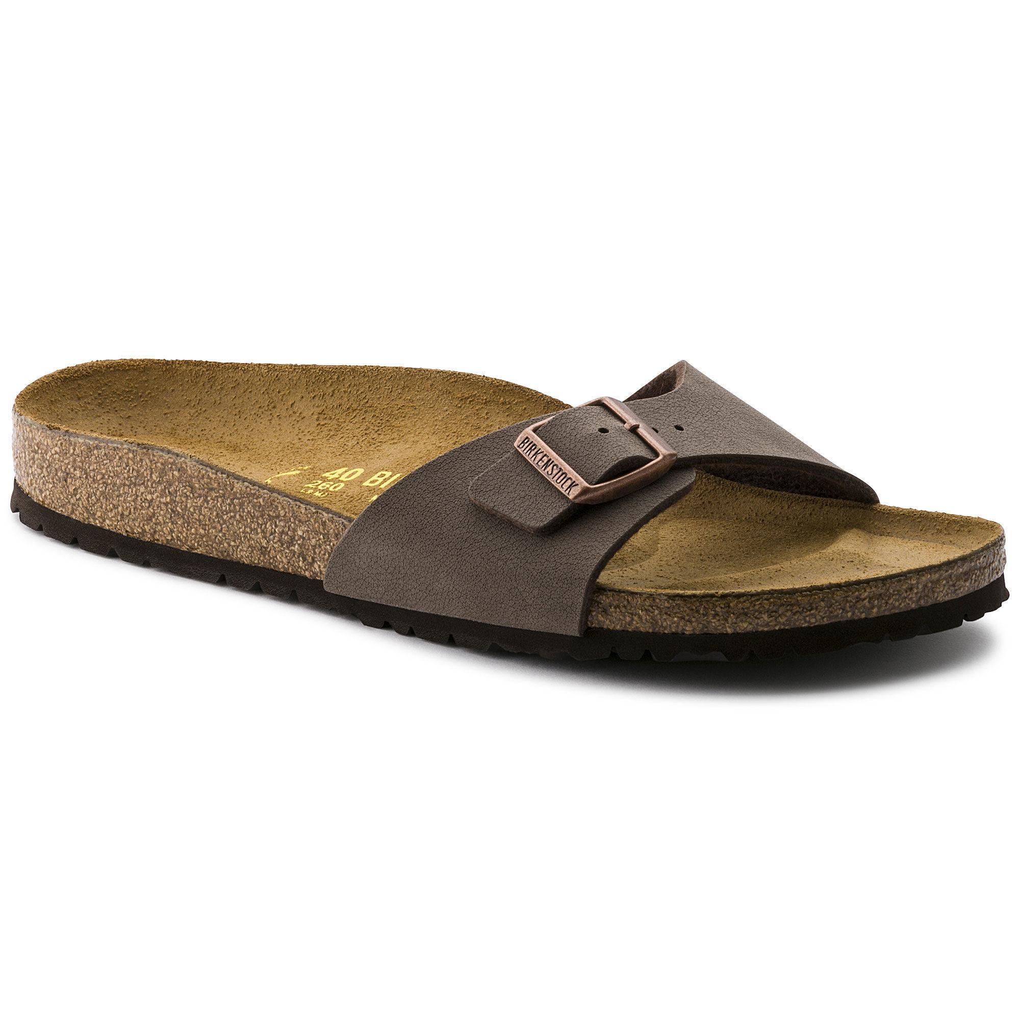 eaf77b54969d Birkenstocks Men Sandals Women Madrid Birko-Flor Nubuck Mocha