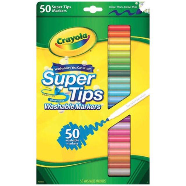 Crayola Supertips Washable Markers 50's By Cpt.