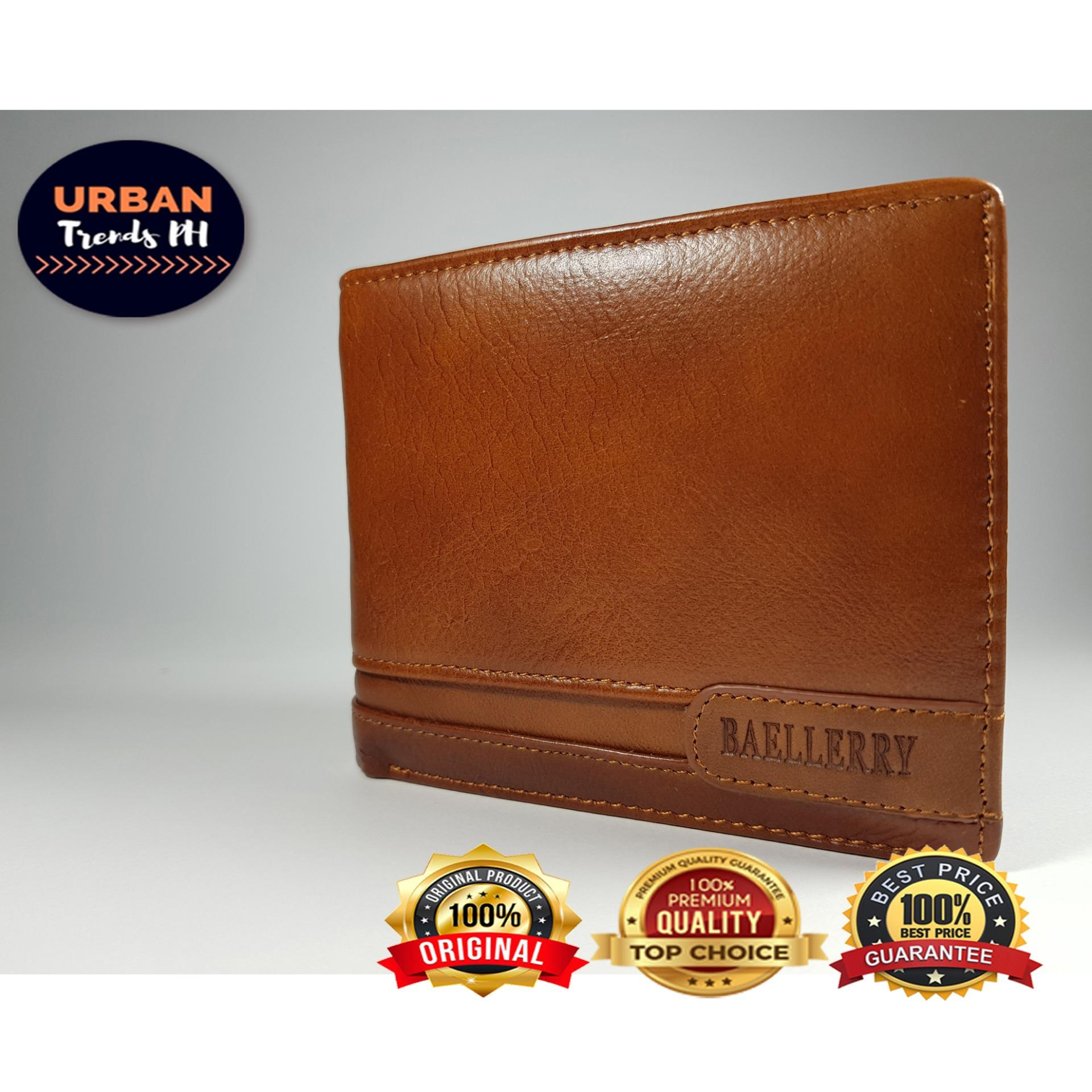 Baellerry Short Vintage 100% Handmade Genuine Leather Men Wallet (Classic  Bi-fold Multi