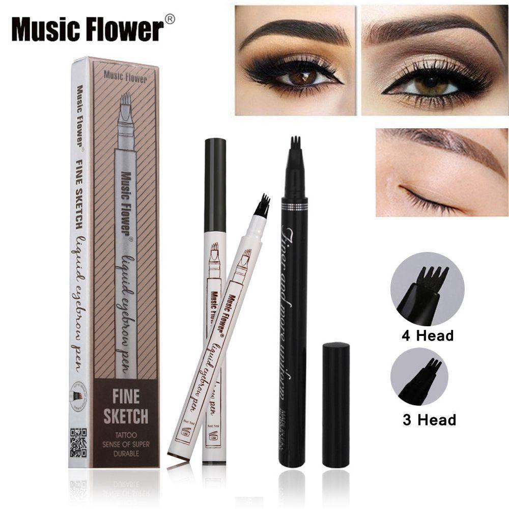 Music Flower Brand Makeup Fine Sketch Liquid Eyebrow Pen Waterproof Tattoo Super Natural Eye Brow Smudge-proof 9 Philippines