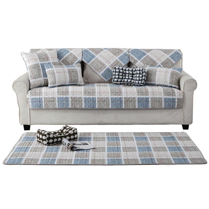 Nordik katun Kain Anti Selip bantal sofa modern minimalis kulit penutup sofa Bungkus Penuh universal set ruang tamu kain alas sofa Penutup - 3