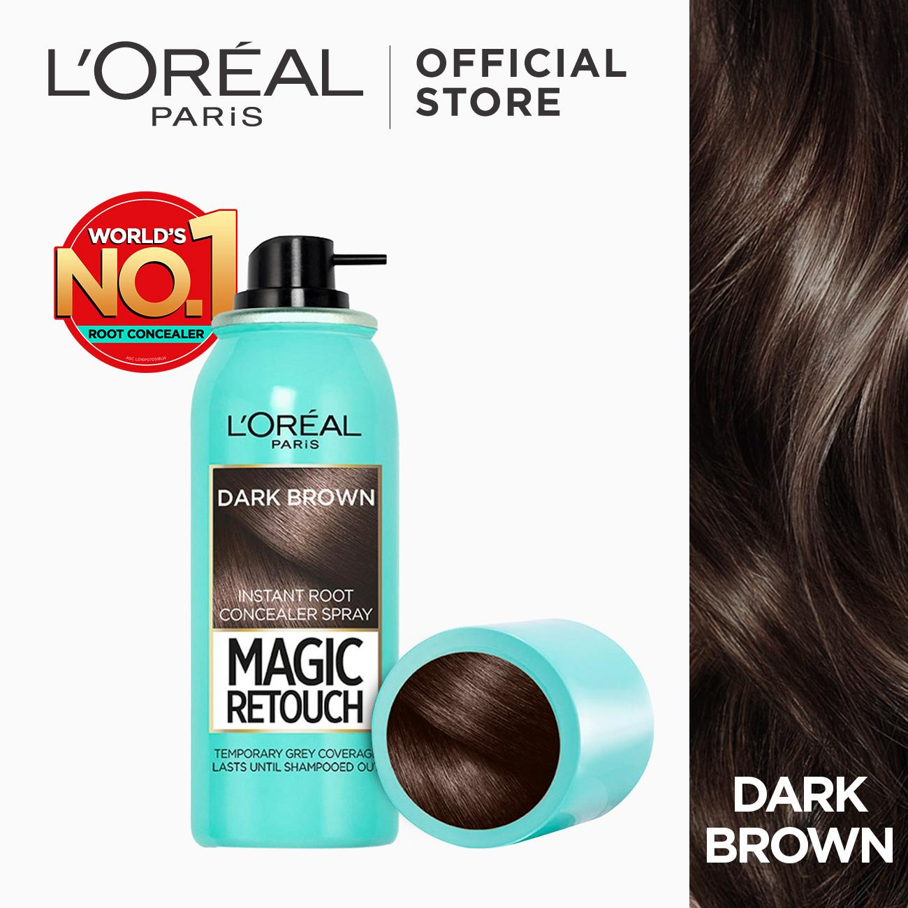 Hair color brands hair dye on sale prices set reviews in magic retouch instant gray root concealer spray dark brown by loreal solutioingenieria Gallery