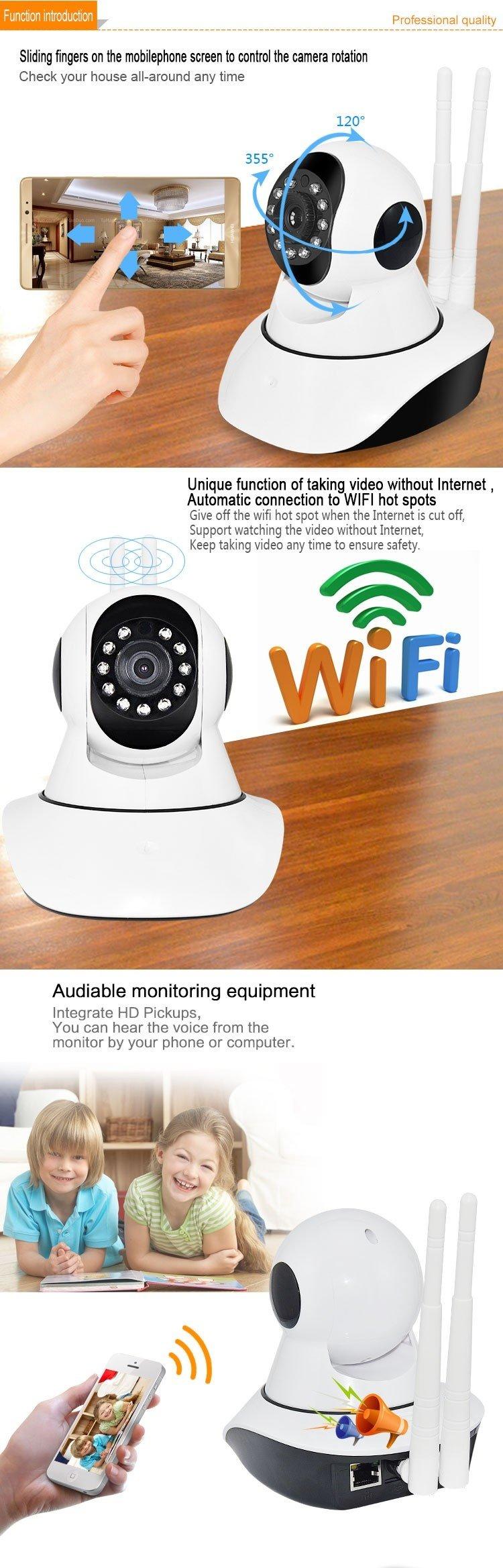 Applink Onvif Yoosee Yy2p App X5 2 Dual Antenna Smart Home Cctv Wifi Ip Camera Hd 720p With 2016 Hot Selling Indoor Security Network Ir