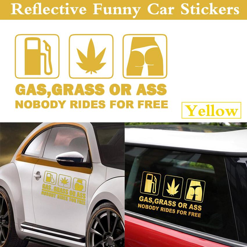 Gas grass or ass nobody rides for free car sticker reflective car stickers for trd
