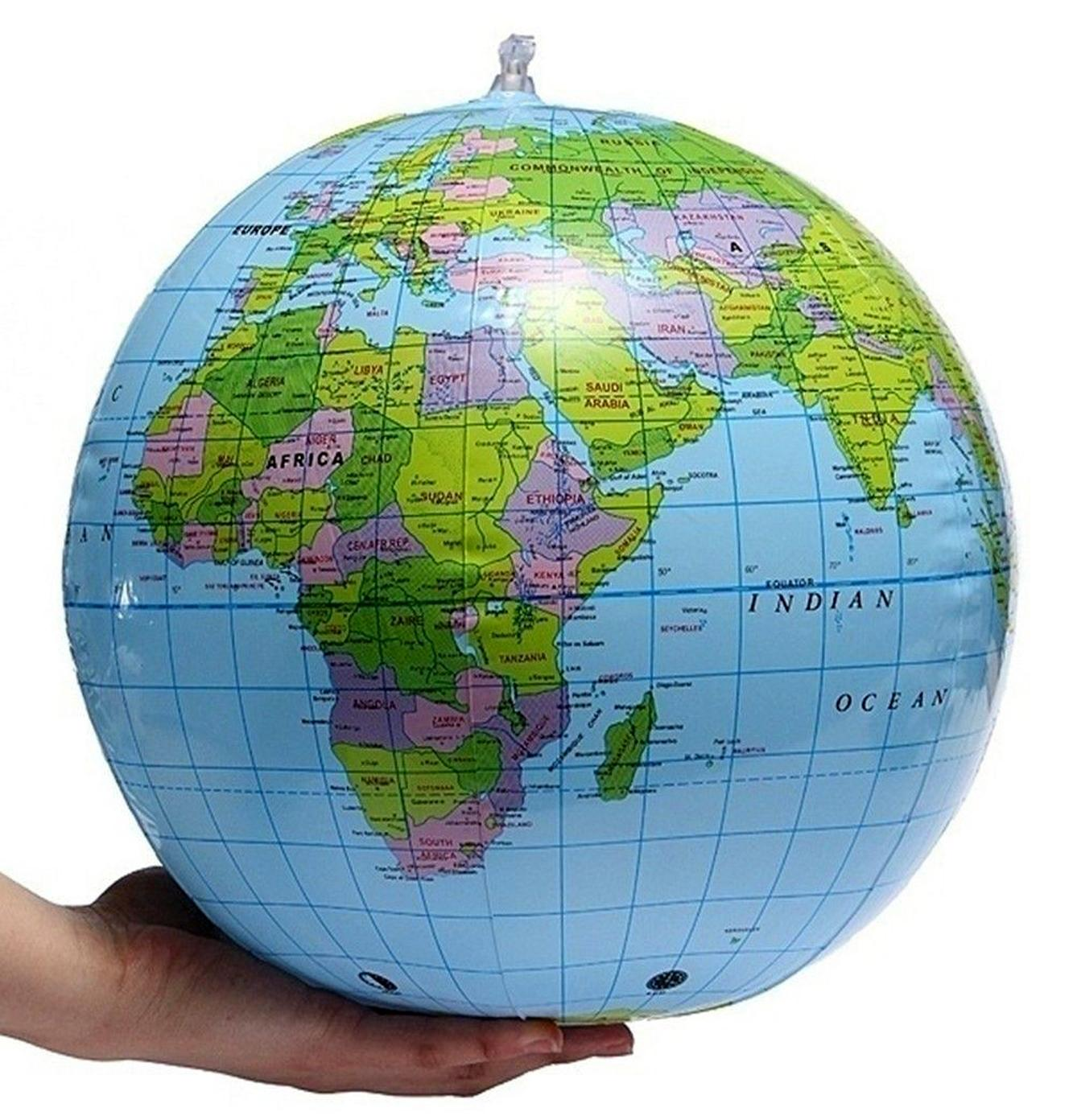 Geography puzzle toys for sale geography toys online brands 16 inch inflatable globe world map geography ball educational tool and a toy gumiabroncs Image collections