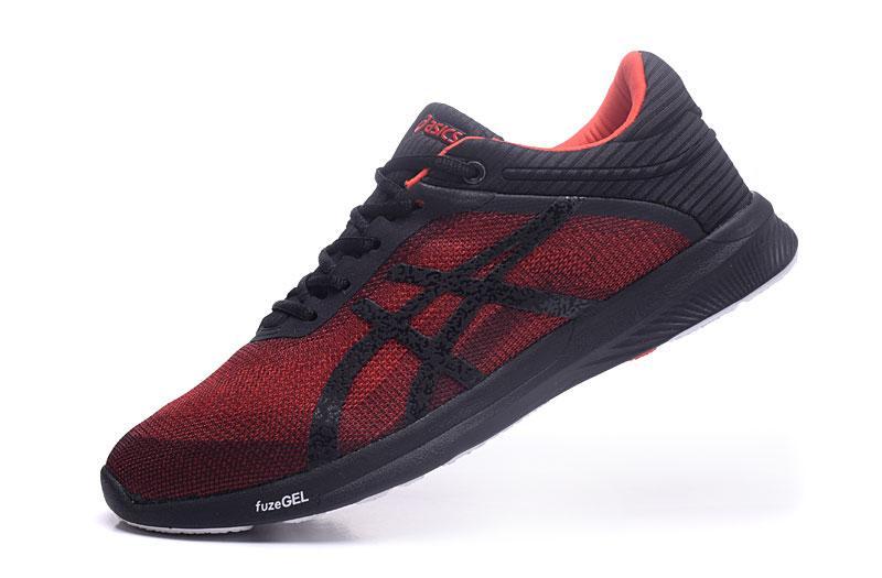 """Asics Resmi """"Harimau Onitsuka"""" Sepatu Lari Hitam Putih Penjualan Global  Pria FuzeX Rush d18595281b"""