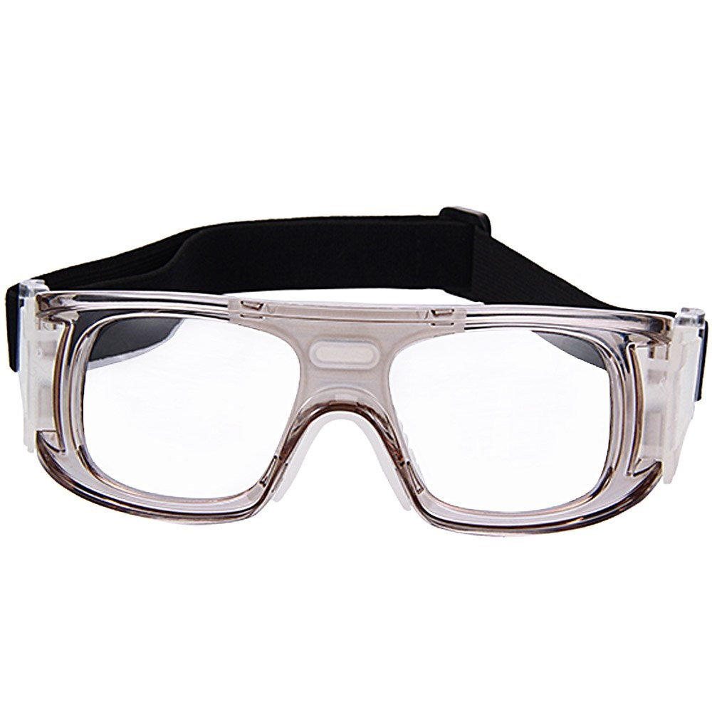 1d9067e0ea Basketball Football Sports Eyewear Goggles PC Lens Protective Eye Glasses  (White)