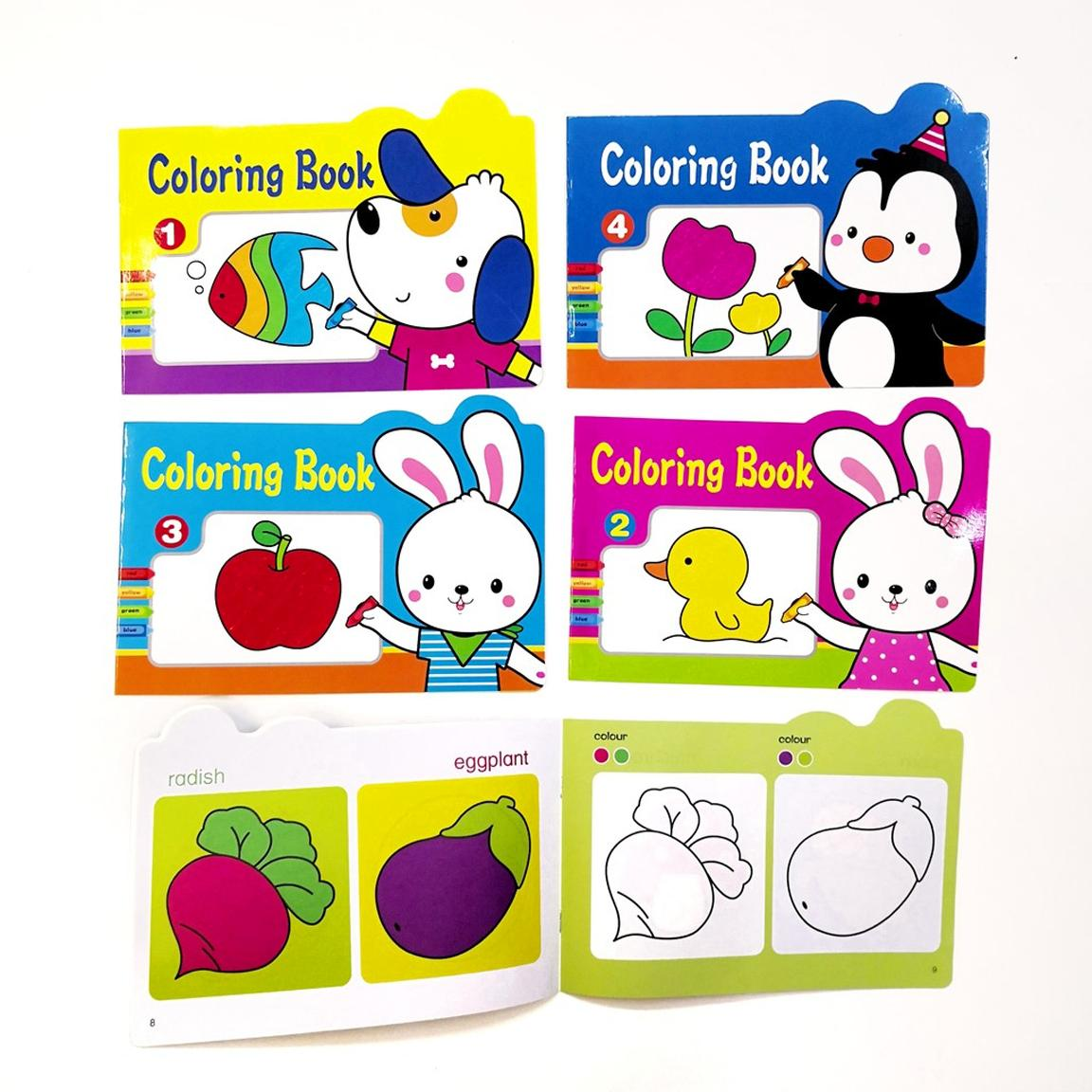Coloring Book Activity Set For Toddlers Children 4 Pcs