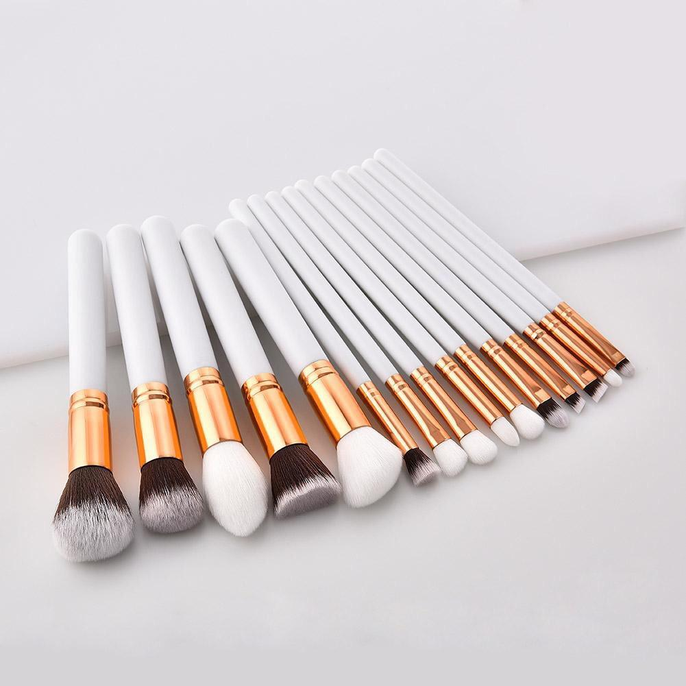 15 pcs White Premium  brush set (Anne clutz brushes inspired) Philippines