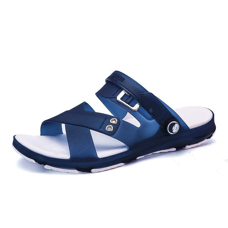 2018 model baru musim panas Pria Sandal Summer casual Sandal pantai Anti Selip Anti Bau murid sandal dwiguna diluar ruangan sepatu berlubang - 3