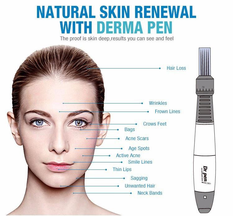 2016 Newest Dr.pen Dermapen Auto Micro Needle 12/9 Needles Derma pen