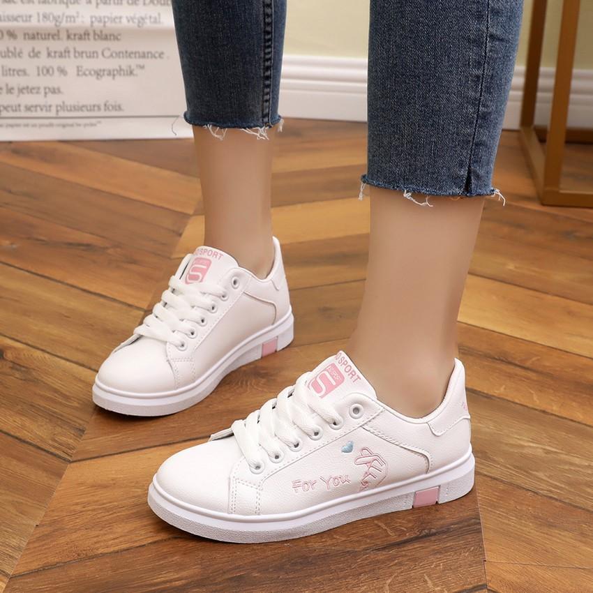 ... Anak prempuan Sepatu 2019 musim semi dan musim gugur model baru rendah tali sepatu netral dari ...