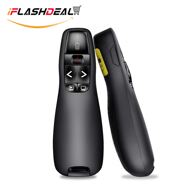 Iflashdeal Wireless Presenter Remote, 2.4ghz Wireless Usb Presenter Powerpoint Remote Ppt Clicker For Presentation By Iflashdeal.