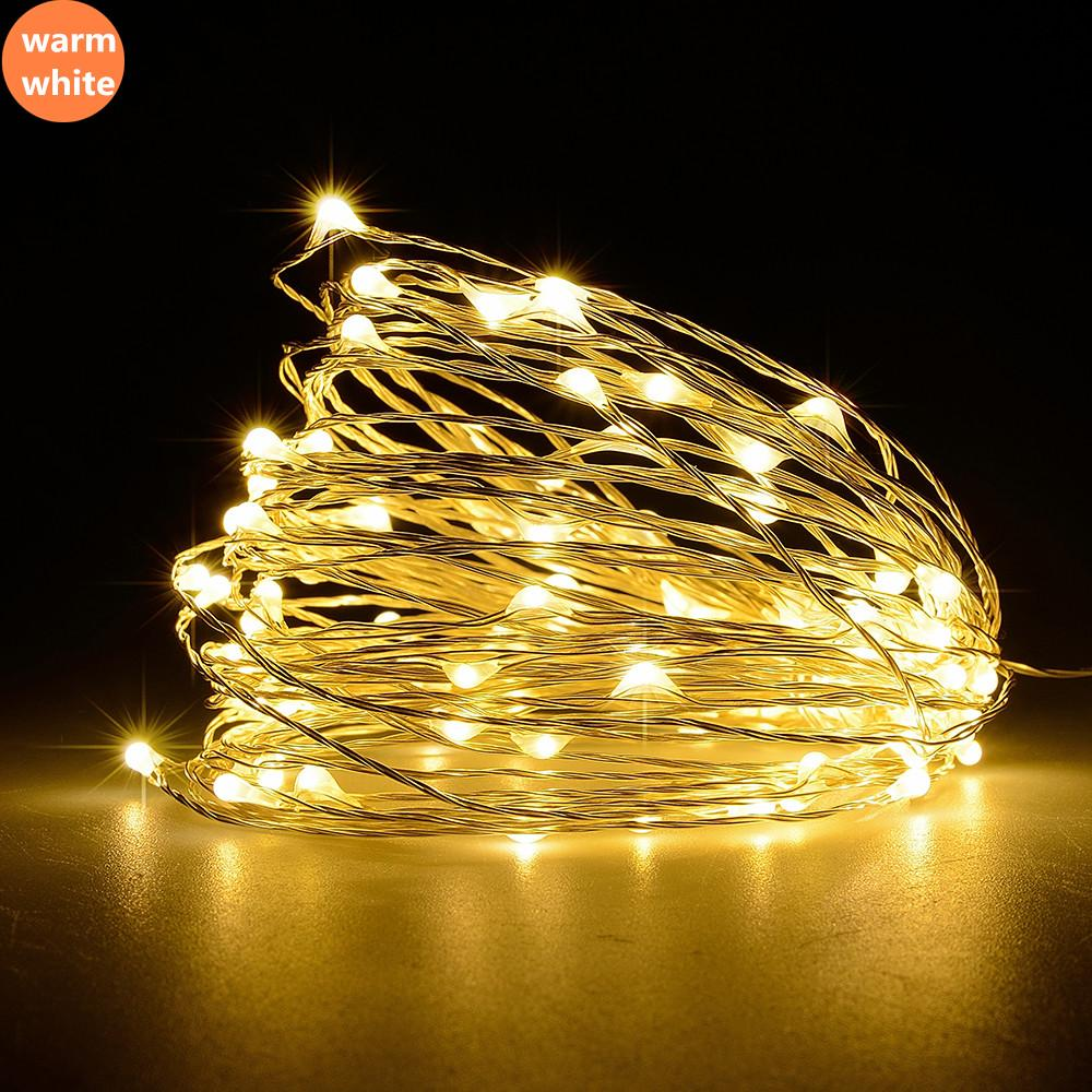 2 Meter, 20 LED, Battery Operated Mini LED Copper Wire Fairy Lights W