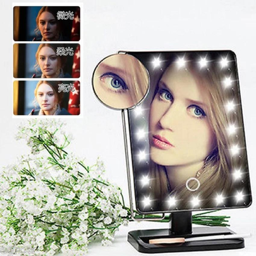 MonAmie Adjustable Large LED Mirror Makeup Desktop With Lights Philippines