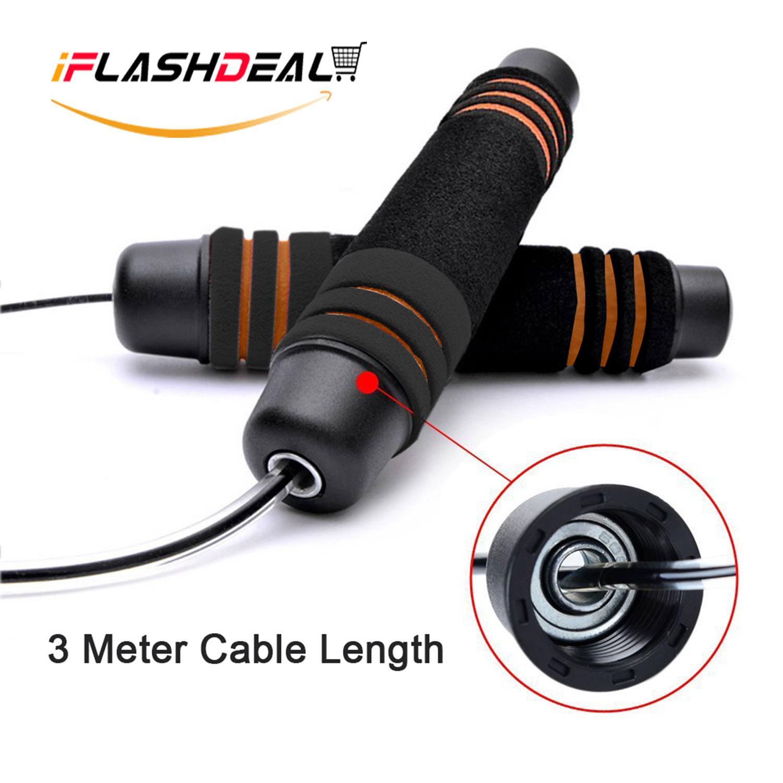 iFlashDeal Digital Counter Jump Rope Kecepatan Cepat Menghitung Ringan Kabel Kawat Baja For Tinju Latihan Kebugaran