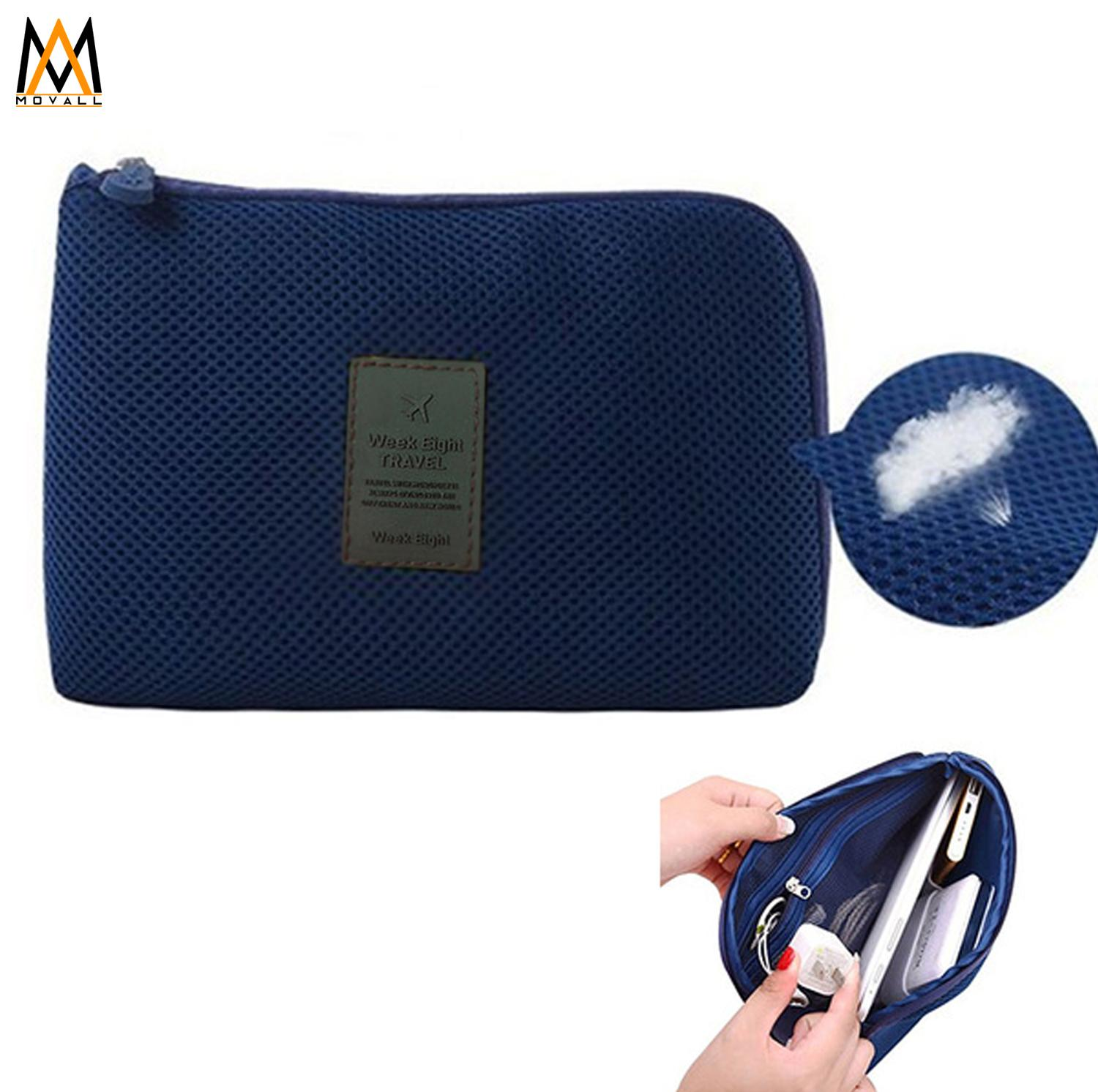 c5359f42a7 Travel Gadget Organizer Cable cord Charger Pouch (Navy Blue)