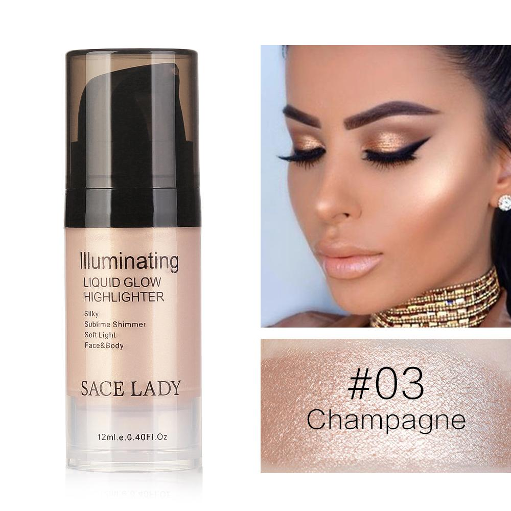 SACE LADY Liquid Highlighter&Bronzer Shimmer Face Illuminator Face&Body ContouringConcealer Cream Shiny Make up Glow Cosmetics Philippines