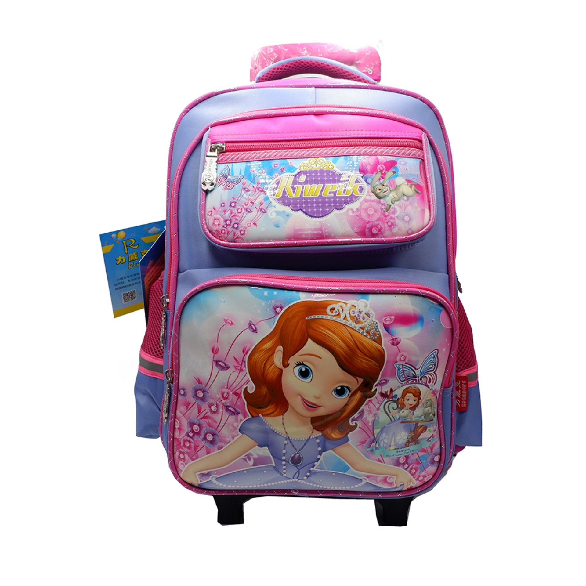 Princess Sofia Six Wheeled Trolley Bag Convertible to Backpack