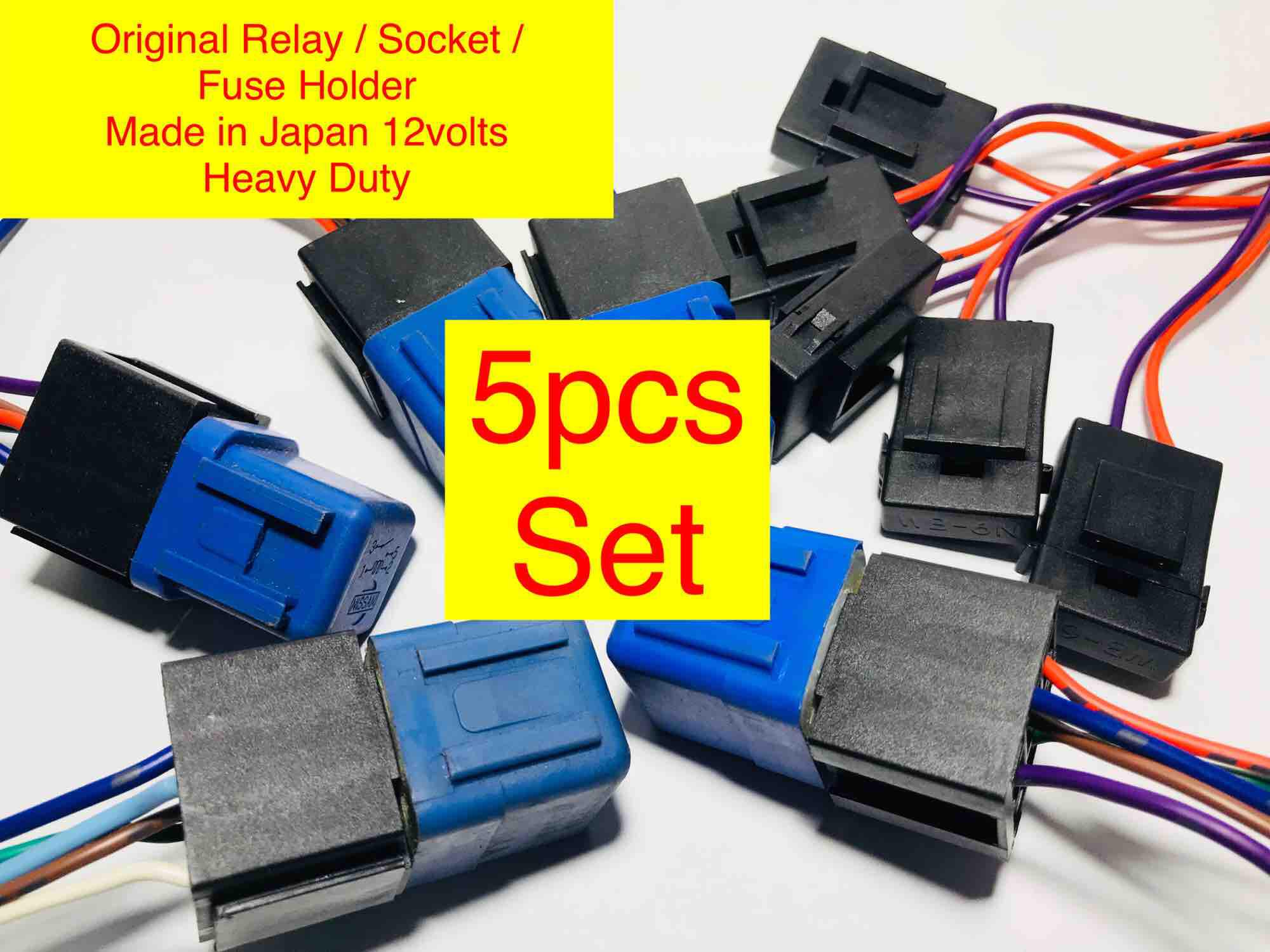 Car Relays For Sale Automotive Online Brands Prices Power Changeover Relay Auto 5pc Set 12v Universal Original With Socket Fuse Holder Aircon Like